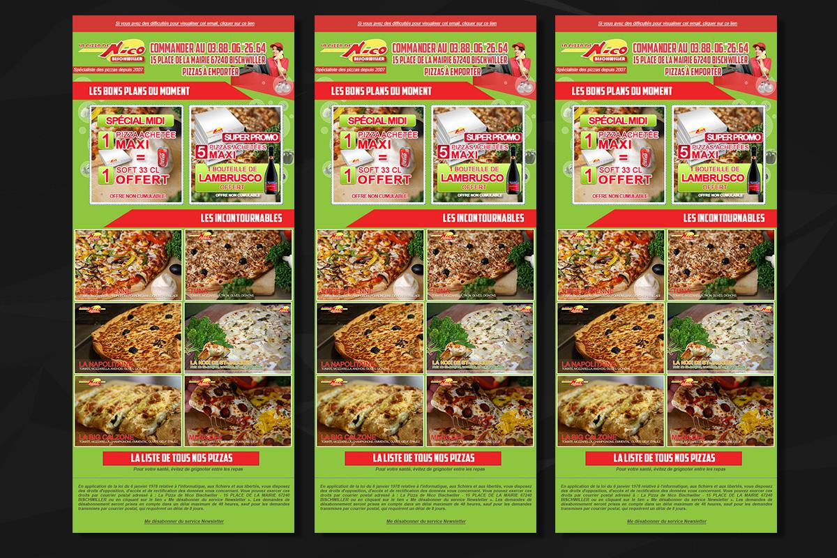 Emailing La Pizza De Nico